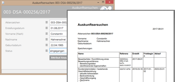 Datenchutzservices Report